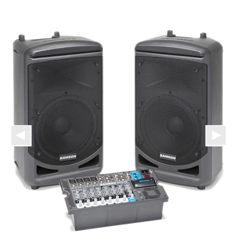 Speakerset Samson xp1000 portable 2x 500W