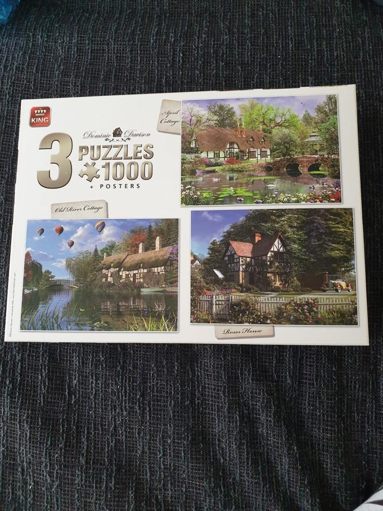 3 puzzels in 1 doos