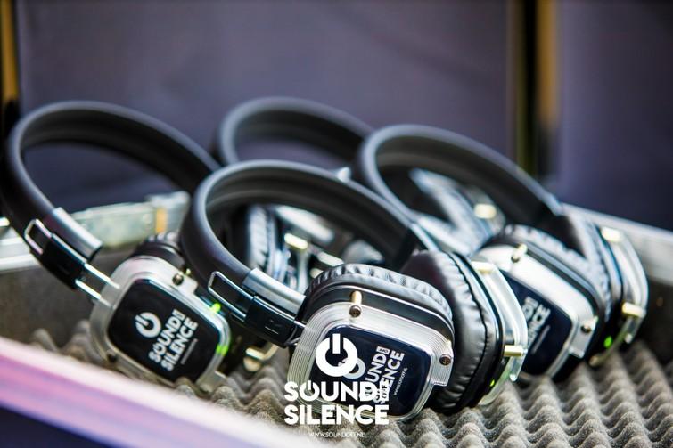 Silent Disco koptelefoons RGB met zender