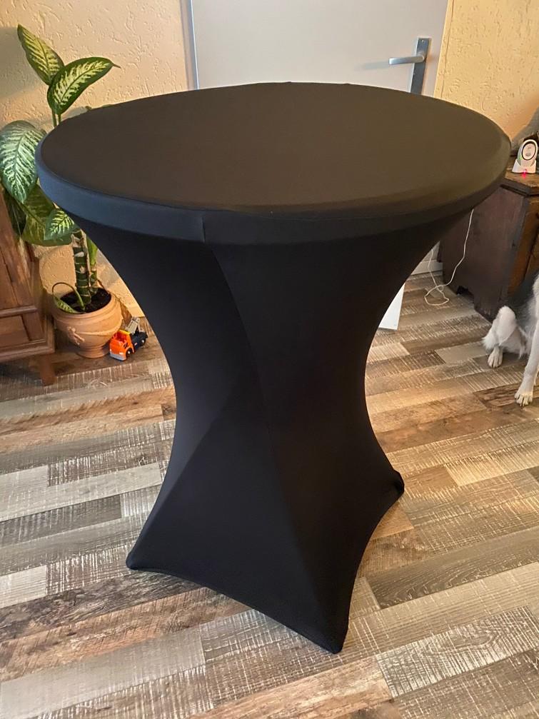 Statafel 80 cm breed Incl zwarte hoes