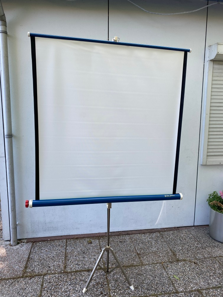 projectie scherm 120x120cm