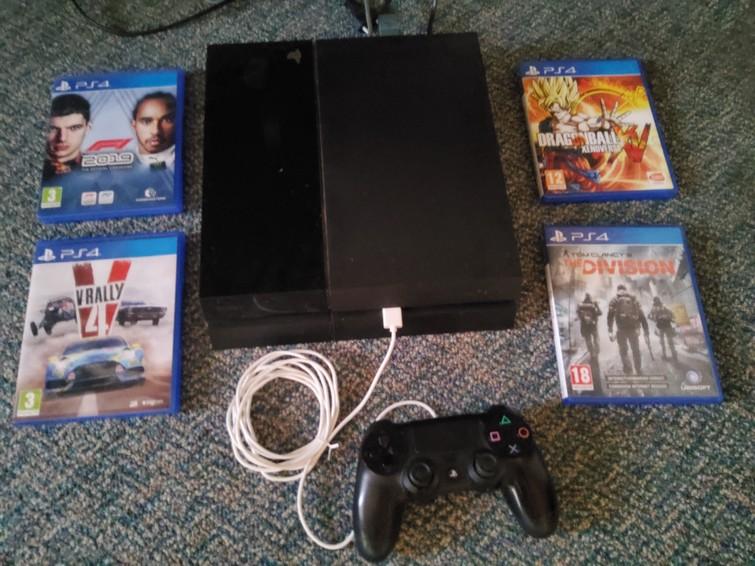 Playstation 4 + controller + spel