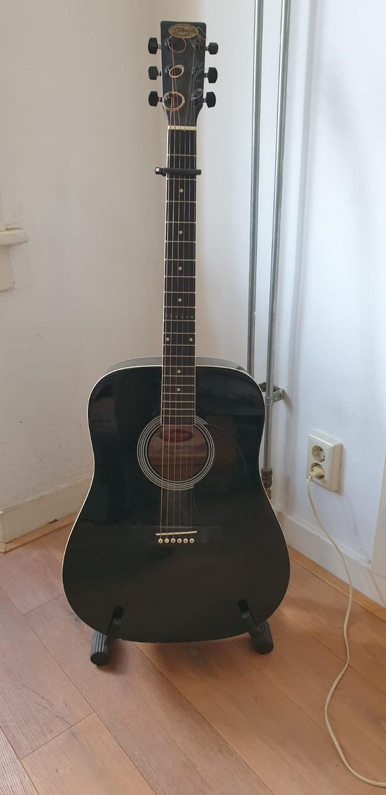 Sexy klassieke gitaar (zwart)