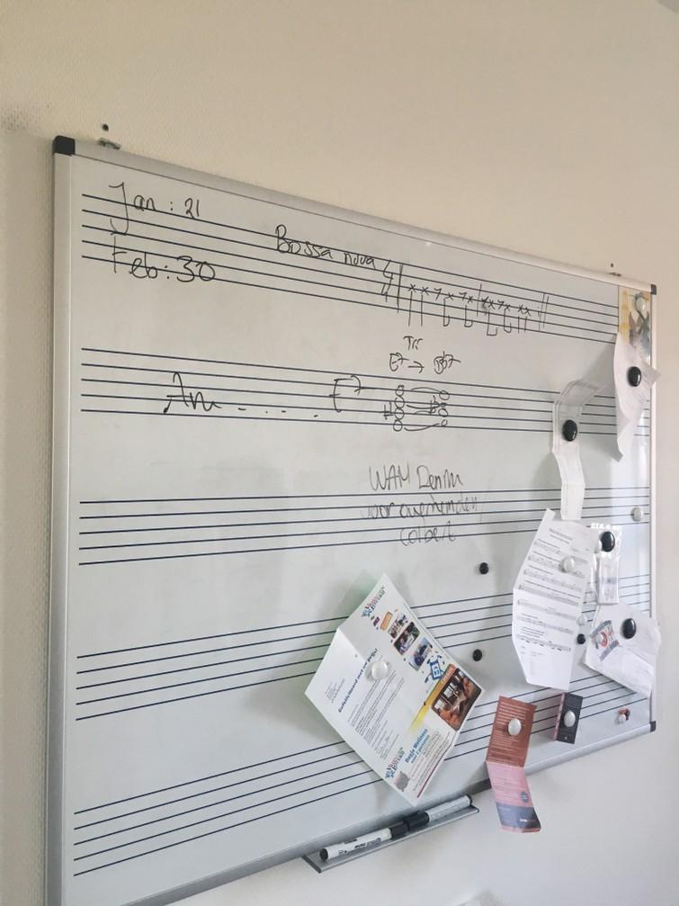 Whiteboard muziek