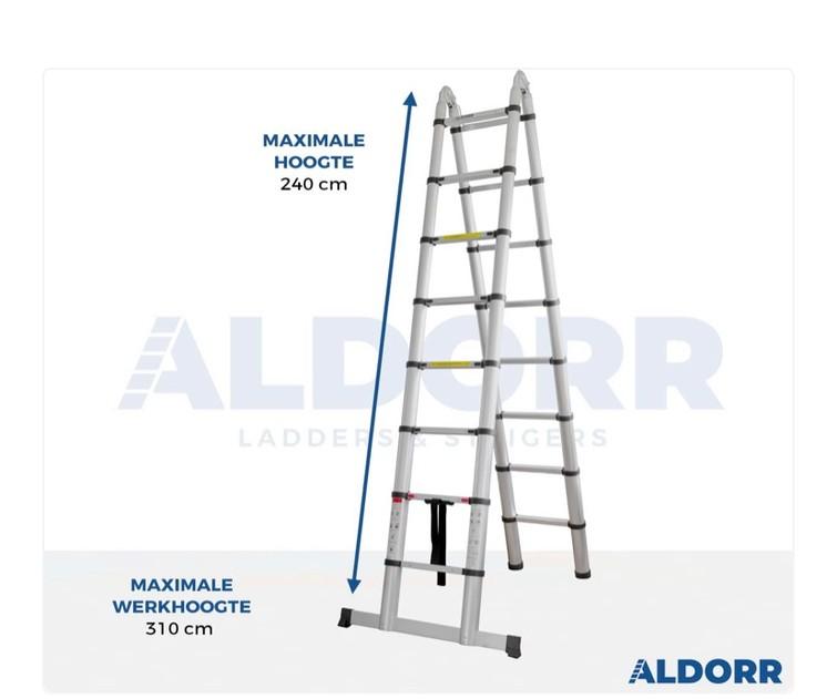 Telescopische vouwladder 5,00 meter – ALDORR Home