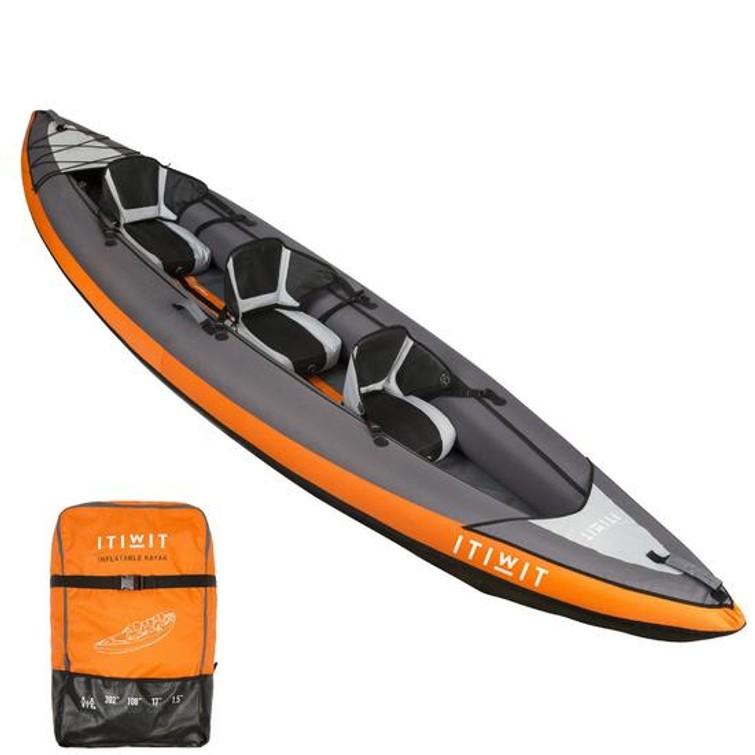 Opblaasbare kayak voor 2-3 personen