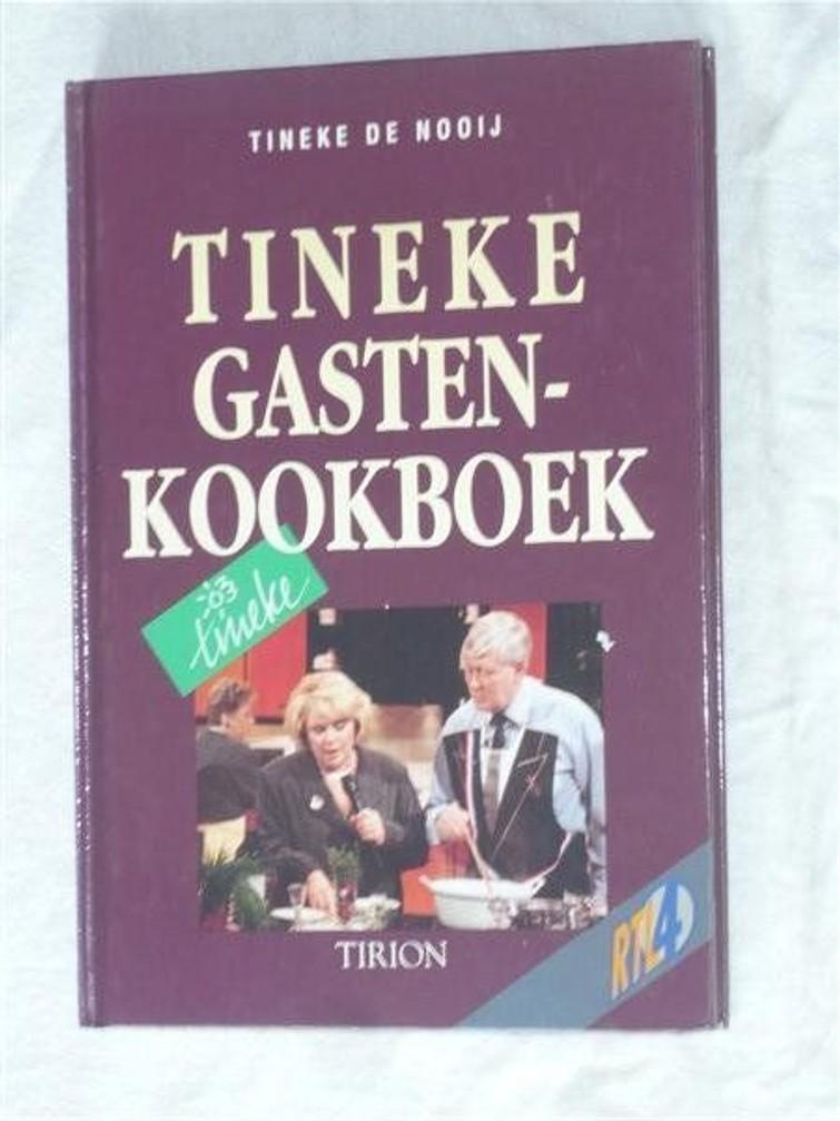 Tineke Gastenkookboek (Tineke De Nooij) 1 Januari 1992 Hardenkaft. Bron Tineke Veronica/RTL 4. - Boek