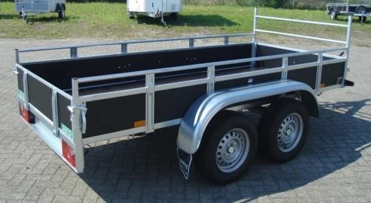Aanhangwagen tandemasser, bakmaat 300cmx130cm, laadvermogen 1140kg