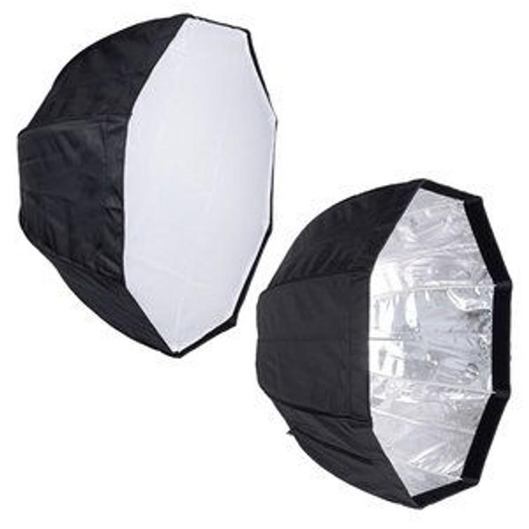 Octasoftbox met 150W daglicht lamp en statief