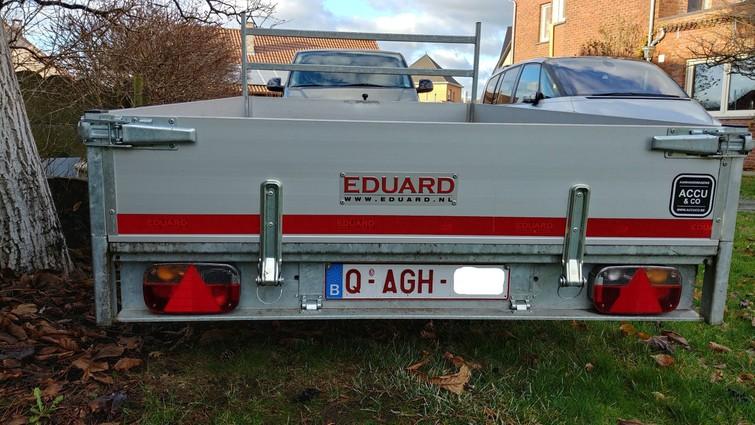 aanhangwagen met oprijplaten