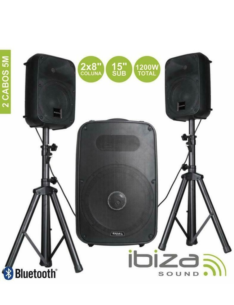 2.1 Party Speakers 600RMS/1200W Total