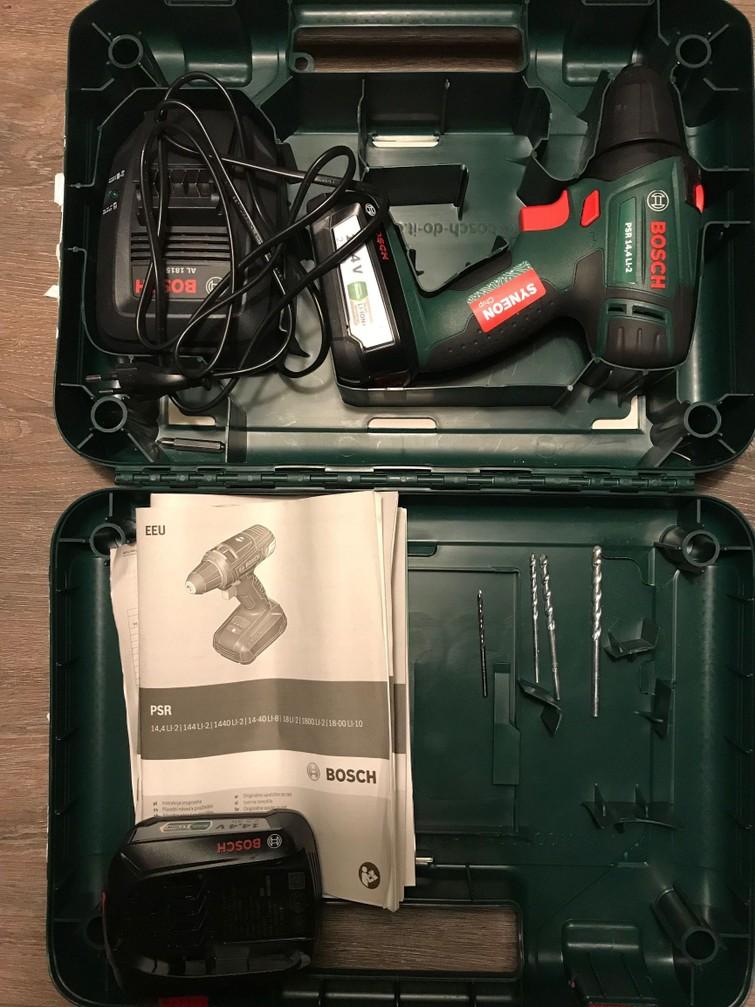 Boormachine, schroefmachine (Bosch PSR 14,4 LI-2 2,5 Ah)