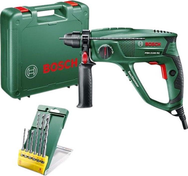 Bosch PBH 2100 RE + 6-delige SDS-Plus borenset