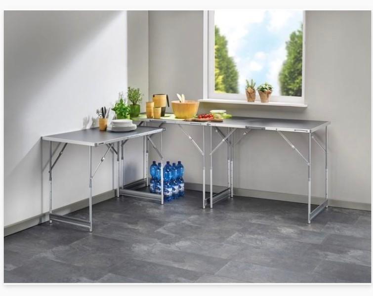Tafel 3x / behangtafel / klaptafel in hoogte verstelbaar