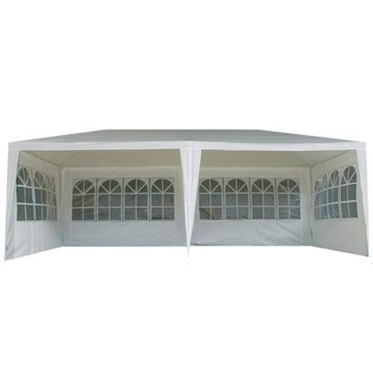 Party tent wit 6x3 m / waterdicht