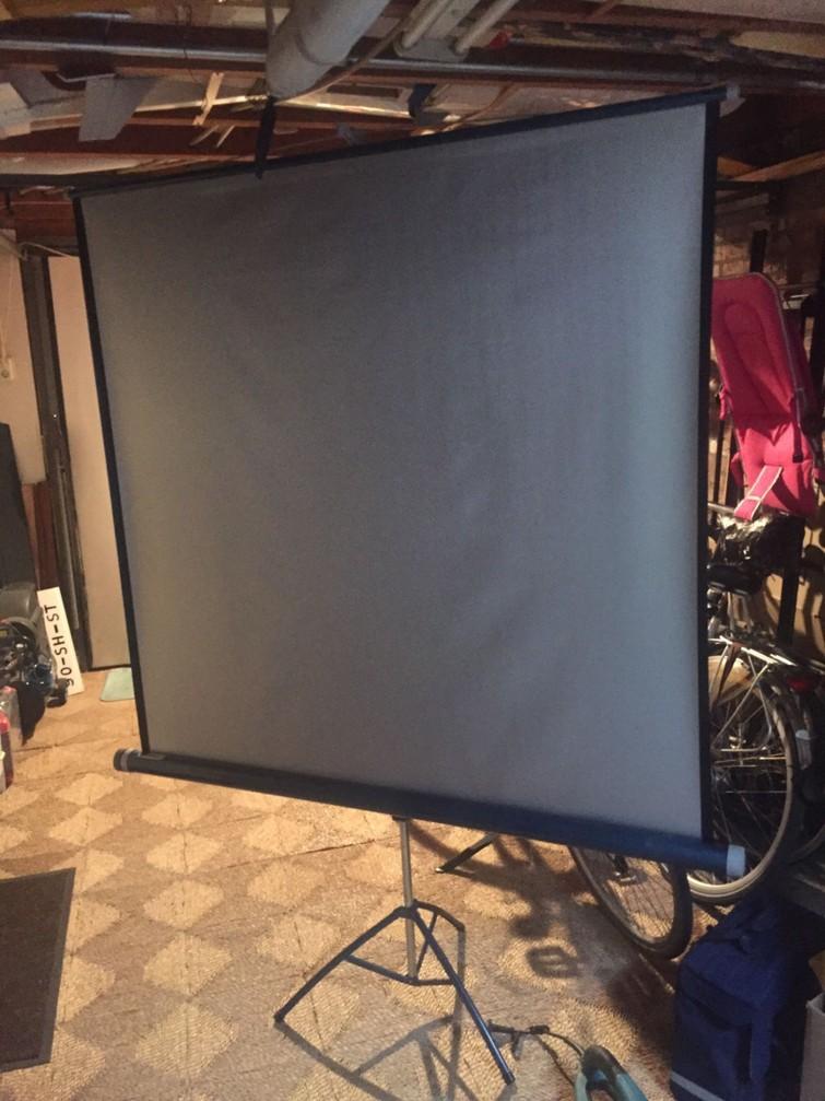 Wit projectie scherm voor op 4oktoberber