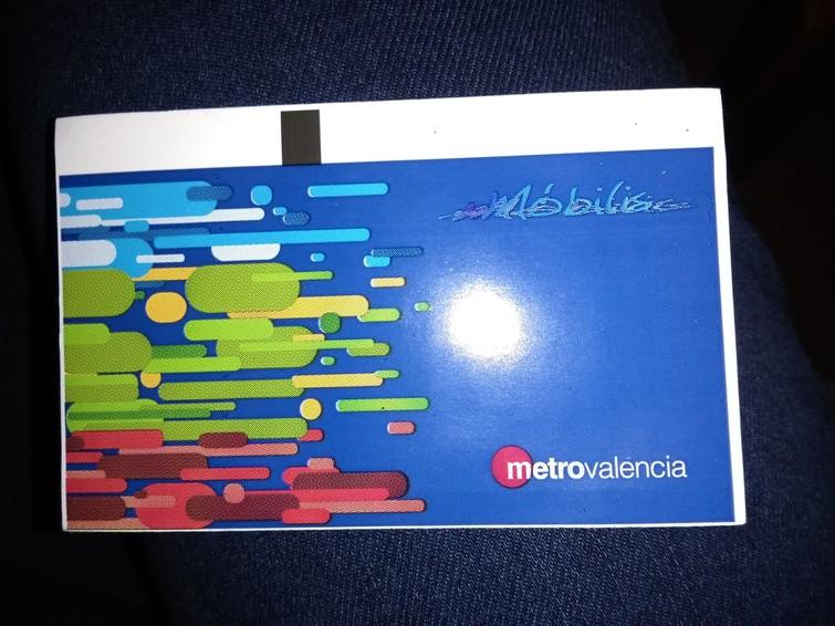 Metro ticket valencia
