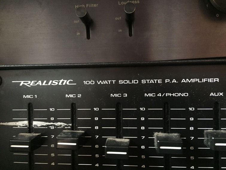 mengpaneel 4 microfoons realistic (vintage)