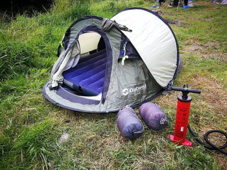 Tent en kampeermateriaal