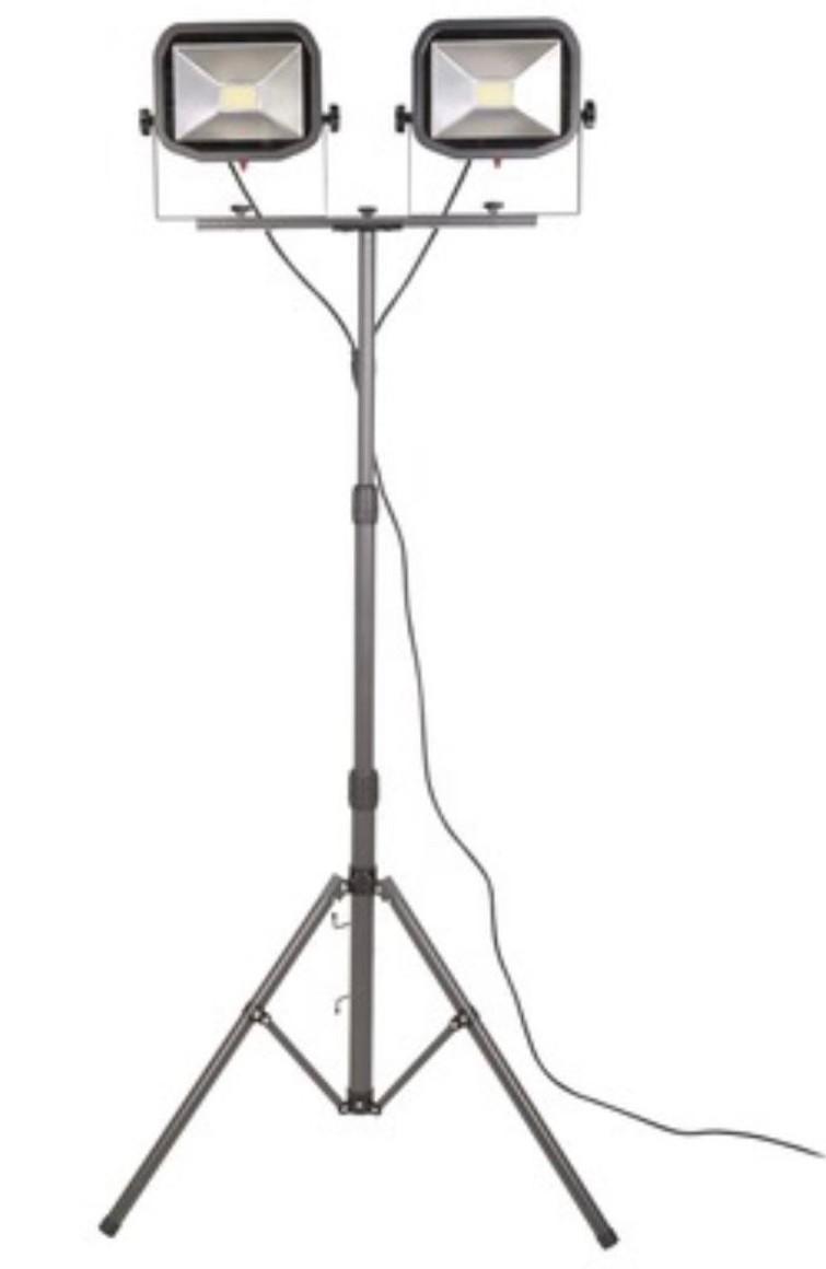 Dubbele LED bouwlamp op statief