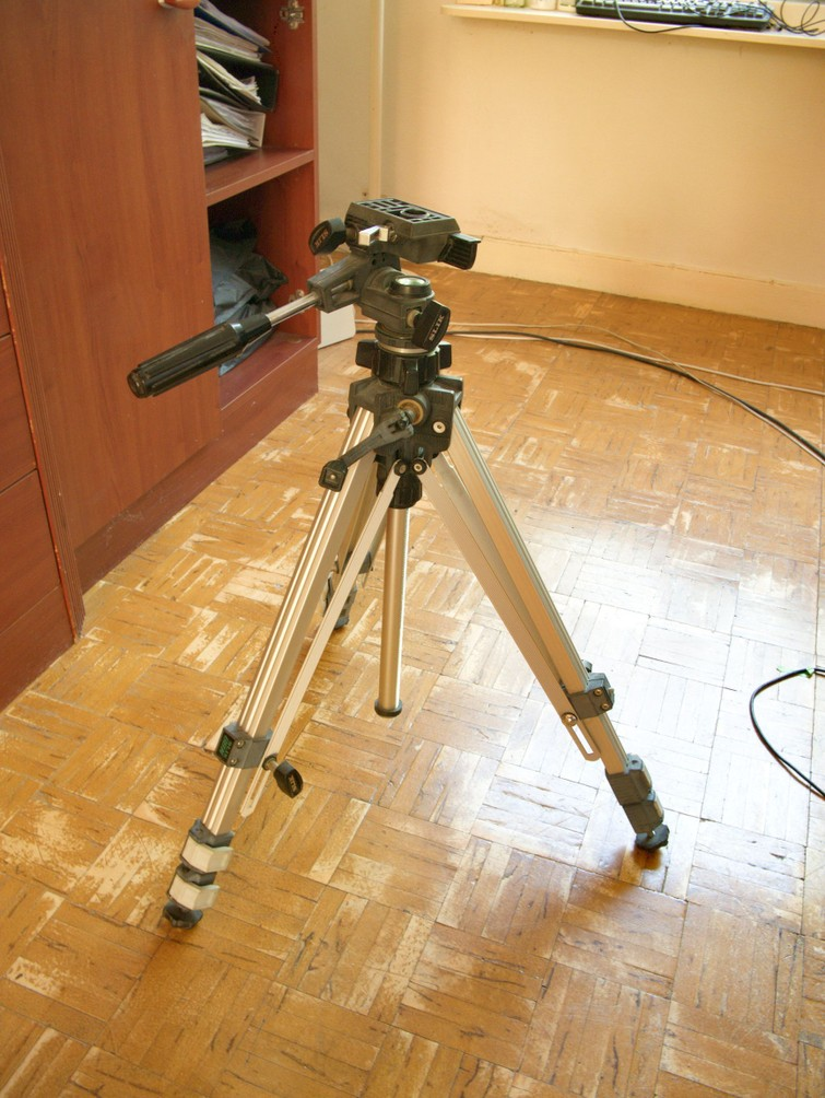 Stevig professioneel camera statief