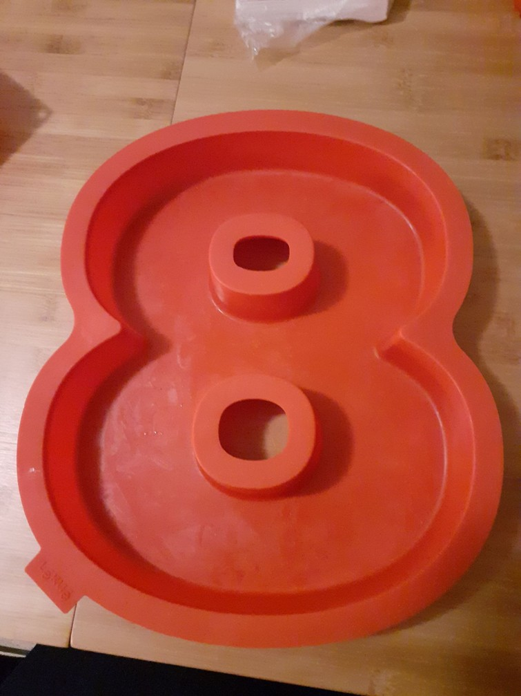 Bakvorm 8 silicone