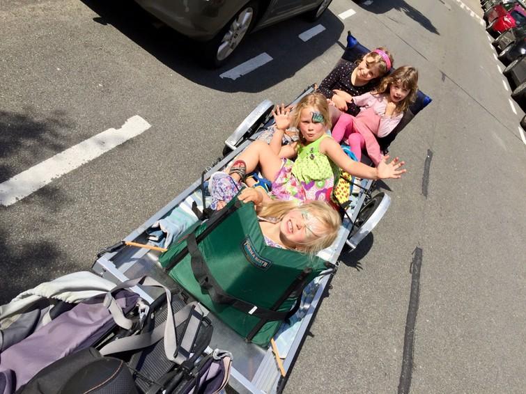 Elektrische bakfiets - BETER (groter) DAN EEN BAKFIETS: Grote fietsaanhanger voor kleine en grote/zware transporten of verhuizingen