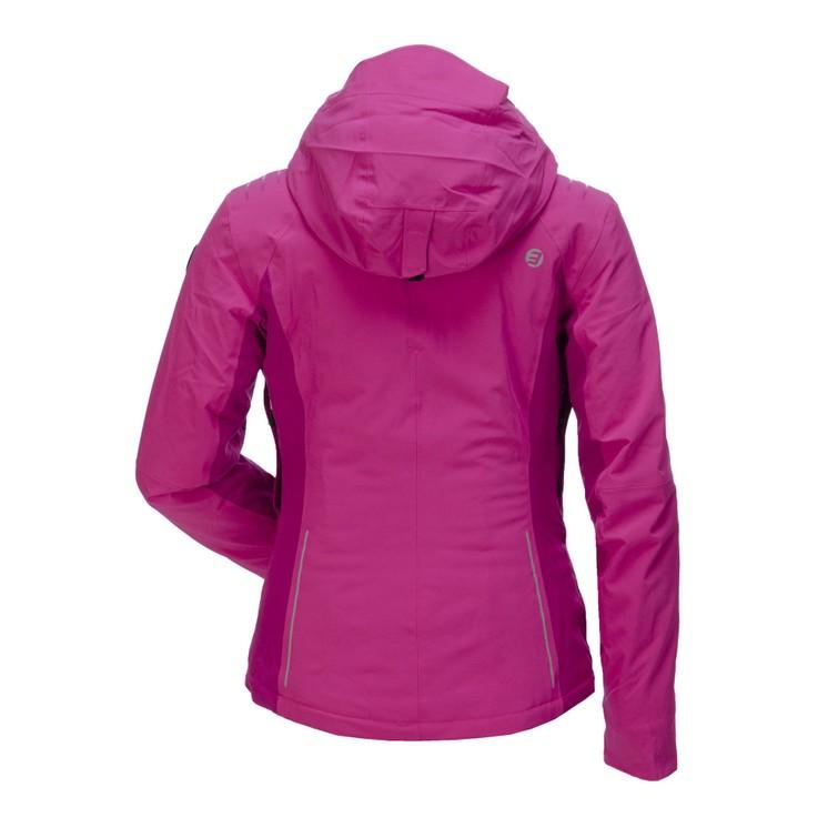Ski outfit (vrouw, maat s/m): jas, broek, helm, handschoenen