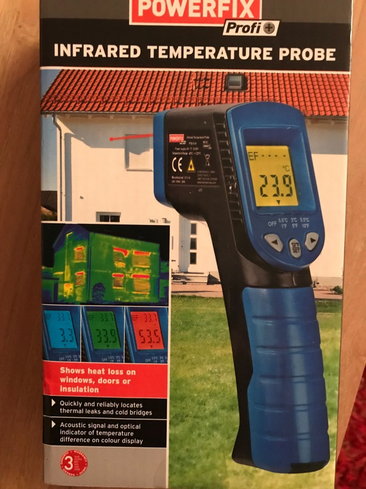Temperatuurmeter laser warmte camera