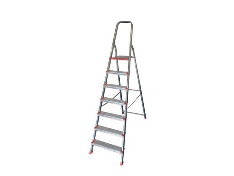 Je kunt deze simpele ladder van mij lenen: https://www.centralpoint.nl/ladders/altrex/trap-huishoud-altrex-steddy-7-treden-art-666307-num-130972/