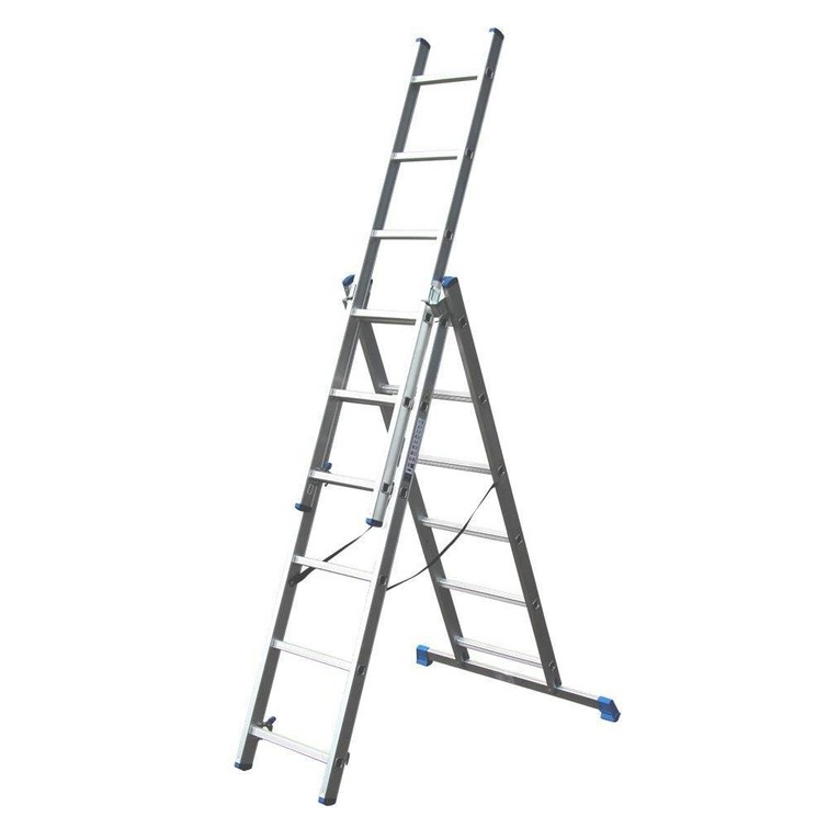 UItschuifbare ladder van 3 delen