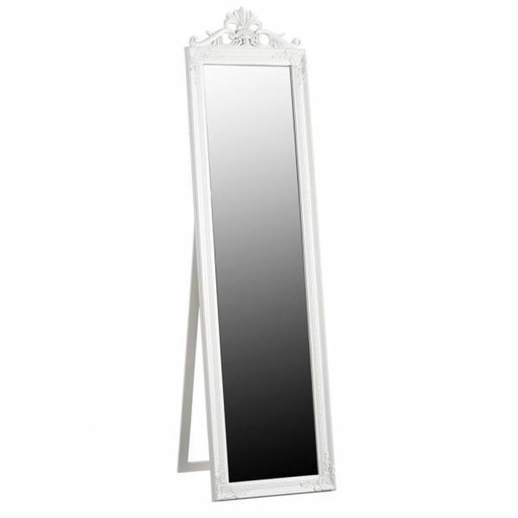 Pas-spiegel staand wit