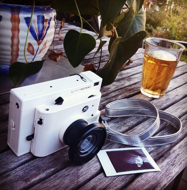 Lomo'Instant Camera met fisheye-, groothoek- en macrolens.