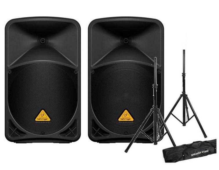 """Speakerset 100 tot 120 personen (2x 12"""" tops, 1x15"""" sub)"""