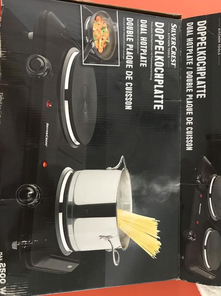 Elektrische kookplaat 2 pits
