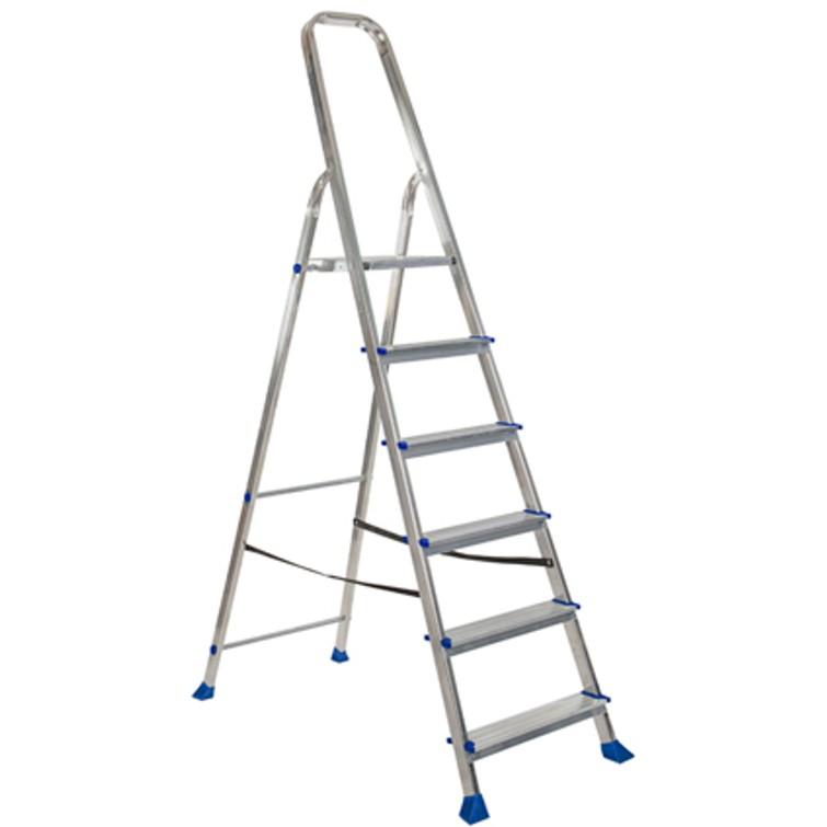 Huishoudtrap (ladder) 6-treeds huren