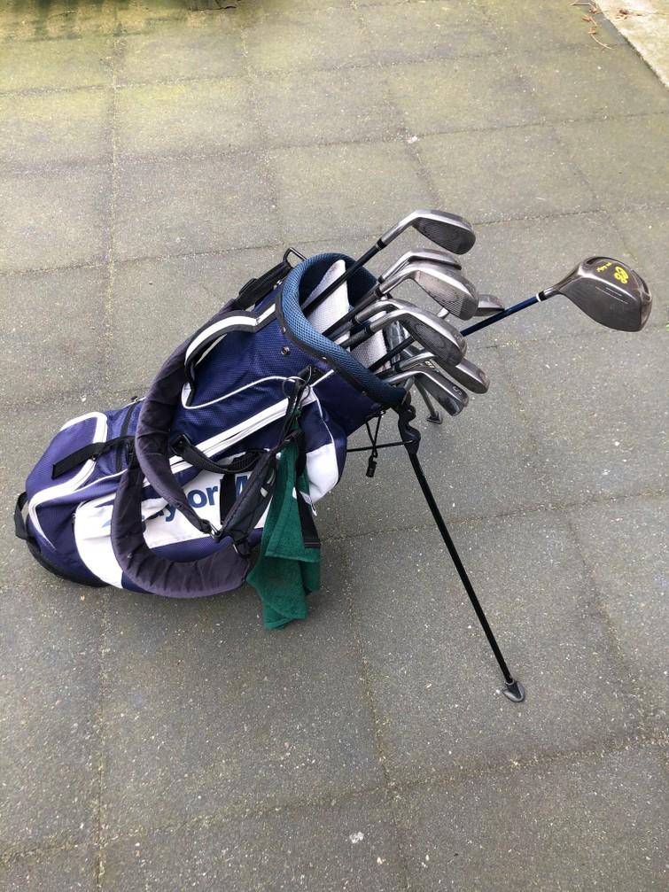 Golfclubs + tas