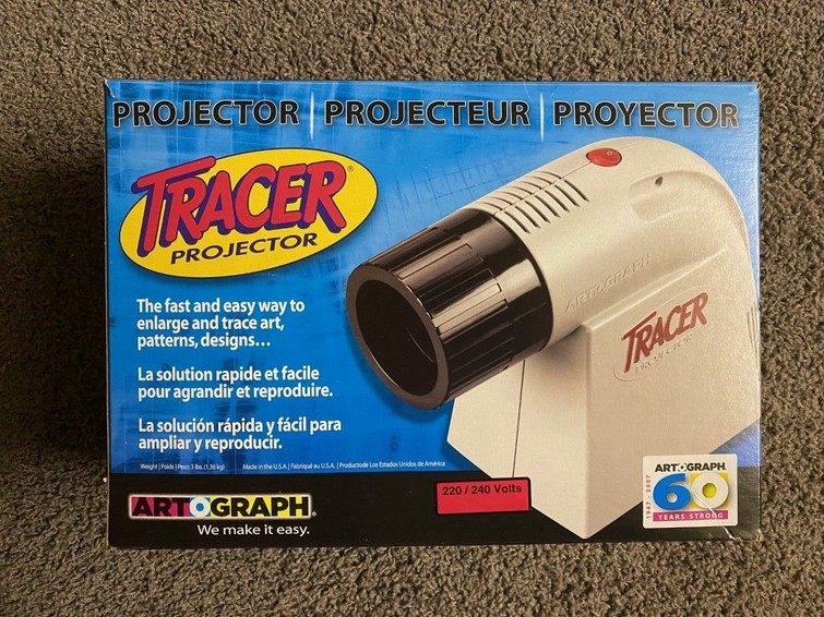 Overtrekmachine / tracer projector