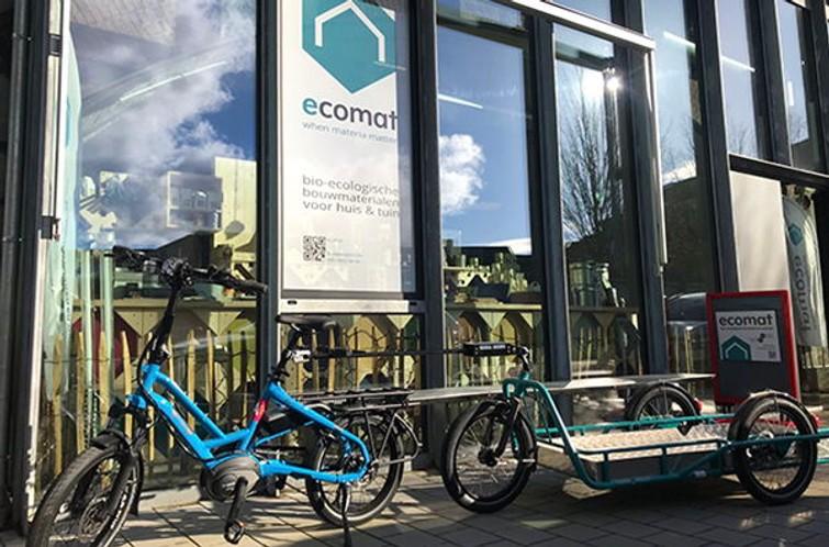 electrische fiets met cargotrailer