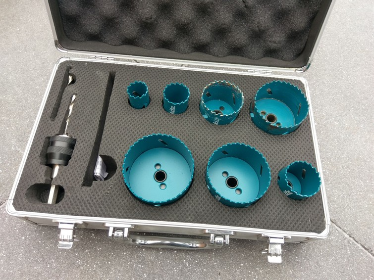 Makita gatenzaag-set (25/32/40/51/65/68/76 mm)