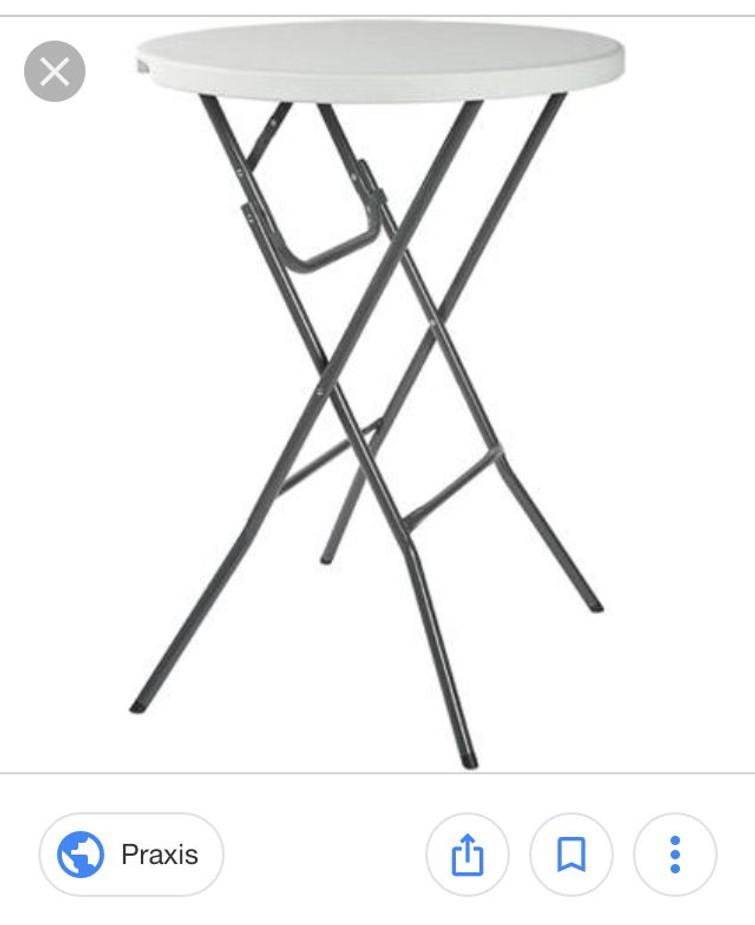 Sta tafel (evt. met zwarte hoes)