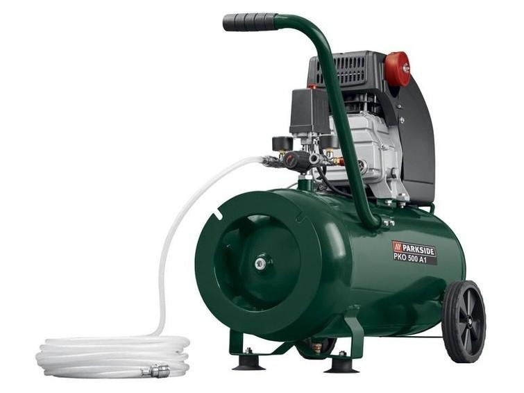 compressor 50 liter met een traploos regelbare werkdruk van 0 - 10 bar