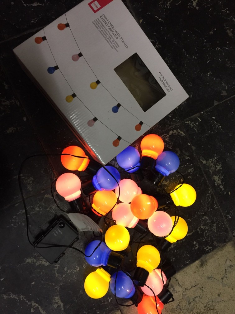 Lampjesslinger op batterij