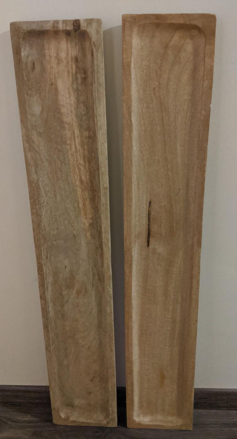 Twee lange hapjesplanken