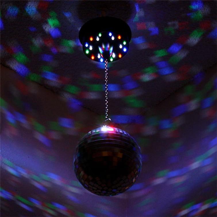 Discobol met ingebouwd licht + extra rood spotlight