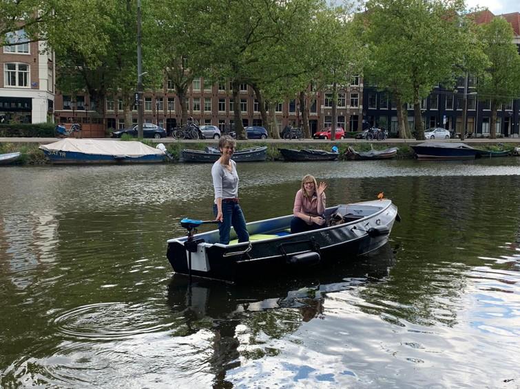 Boot, sloepje, met elektrische motor