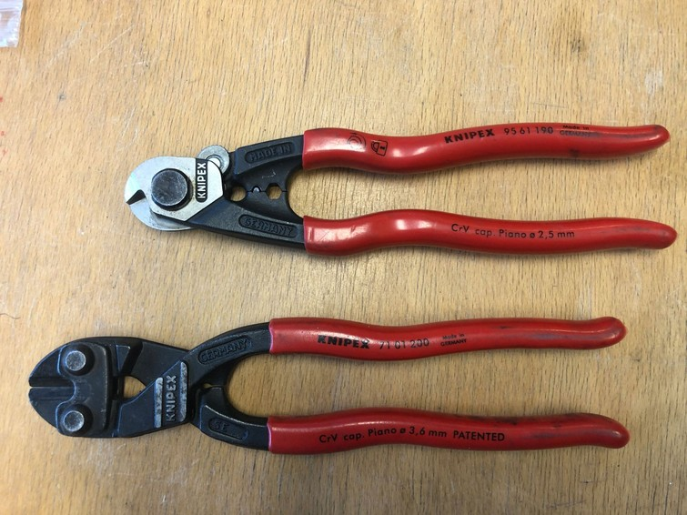 Knippex staalkabel knipper