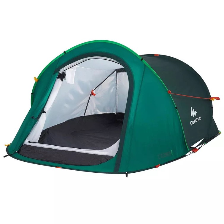 Camping tent 2-seconds for 2 people + inflatable matress