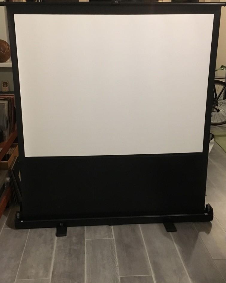 Handige inklapbare projectiescherm/beamerscherm