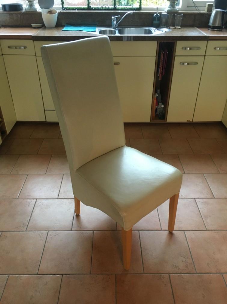 stoelen , leer , cremewit